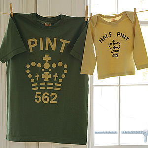 Pint & Half Pint Twinset - Army Toffee - from the little ones