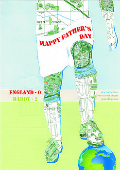 Personalised Father's Day ENGLAND Footballer Card