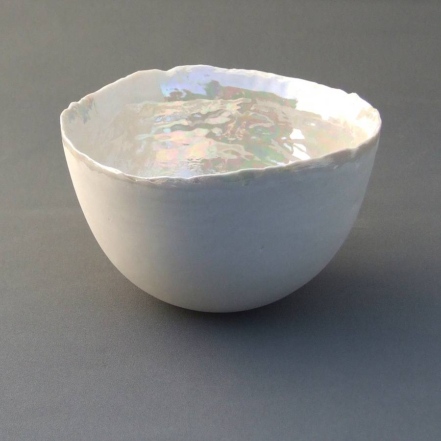 porcelain bowl with mother of pearl by melissa ...