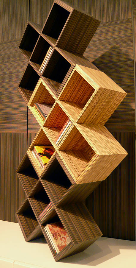 Cube Cd Rack By Red Lilly