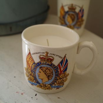 Vintage Coronation Cup Candle