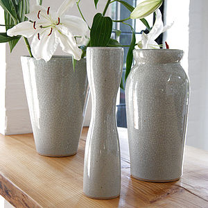 Celadon Glazed Ceramic Vase