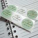 Personalised Save the Date Stickers