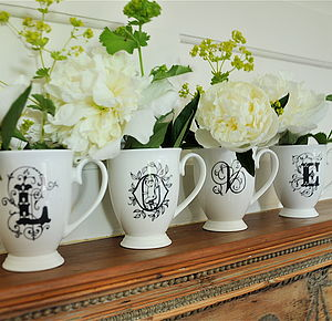 Personalised Alphabet China Mug - tableware
