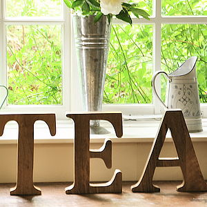 Mango Wood Letter - home accessories