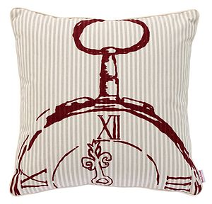 Quarter Numeral Pocket Watch Cushion - home sale