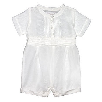 French Design Christening Rompersuit