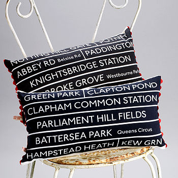 London Bus Route Cushion