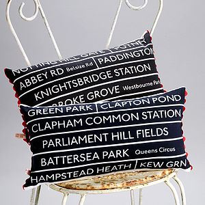 London Bus Route Cushion - cushions
