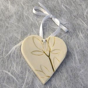 Porcelain Leaf Hanging Decoration - ceramics