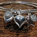 Close To My Heart Personalised Silver Bangle
