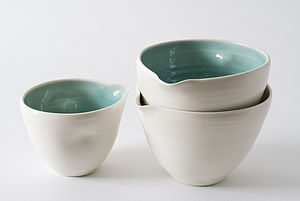 Handmade Porcelain Pouring Bowl - jugs & bottles