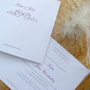 Formal Wedding Stationery Collection - invitations
