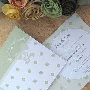Polka Perfect Wedding Stationery Collection - place cards