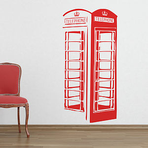 London Telephone Box Wall Stickers