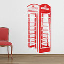 British Phonebox Wall Sticker