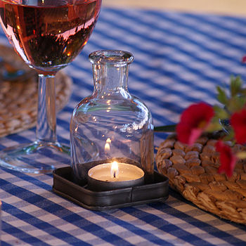 Individual Or Set Of 3 Bottle Tea Lights On A Tray