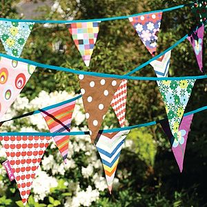Colourful Flag Bunting - room decorations