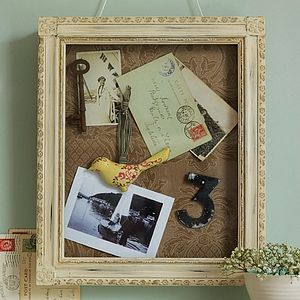 Antique Style Display Case - picture frames