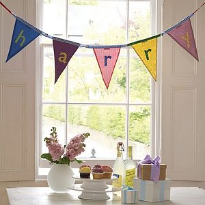 Personalised Alphabet Bunting - children's room