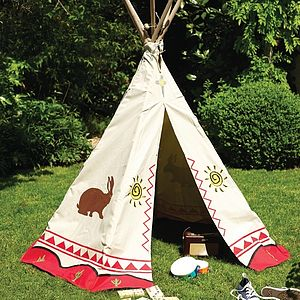 Canvas Tipi Play Tent - toys & games