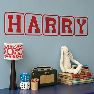 Personalised Letter Wall Stickers - office & study