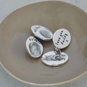 Double Fingerprint Cufflinks - personalised gifts for fathers