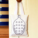 Utensils-slotted-spoon-lavender-bag