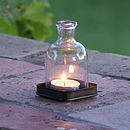 Individual bottle tealight and tray