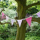 Personalised Child's Bunting lilac and pink