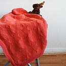the handknitted starlight baby/newborn blanket (terracotta)