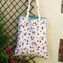 Strawberry Gingham Tote Shopper