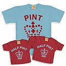 Blue - red pint trio