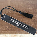 Engraved bookmark