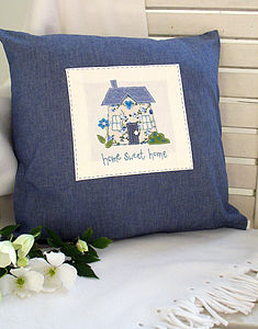 Home Sweet Home Appliqued Cushion - cushions