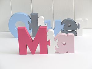 Freestanding Name Puzzle - gifts for babies