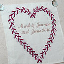 Personalised heart cushion close up