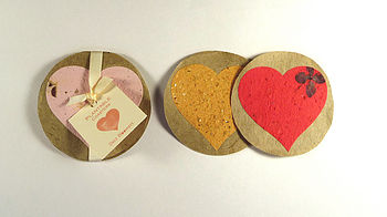 Plantable Coasters Heart