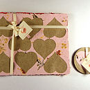 Placemat and Coaster - Heart