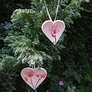 Porcelain hanging decorations - medium and large