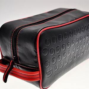 Personalised Qwerty Keyboard Washbag - for him