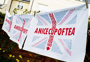 Union Jack Tea Towel - home sale