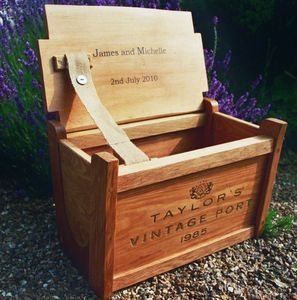 Personalised Wine Crate Chest - gifts for couples