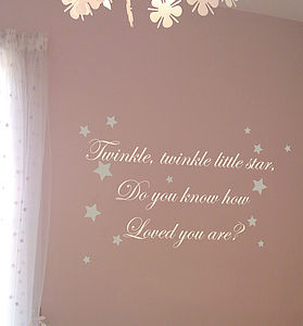 Twinkle Twinkle Wall Quote - home decorating