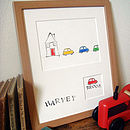 Personalised 'Broom Broom' Handmade Print