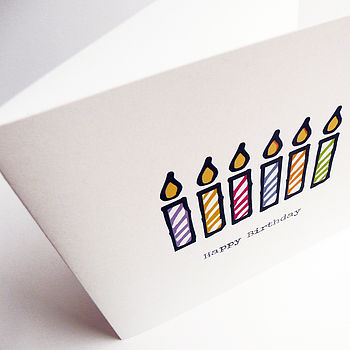 Candle card design