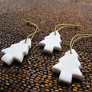Porcelain Christmas Tree Decorations - home accessories