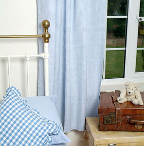 Gingham Tab Top Curtains - soft furnishings & accessories