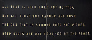 'All That Is Gold Does Not Glitter' Sign - art & pictures