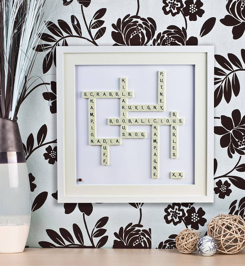 Personalised Scrabble Art By Copperdot Notonthehighstreet
